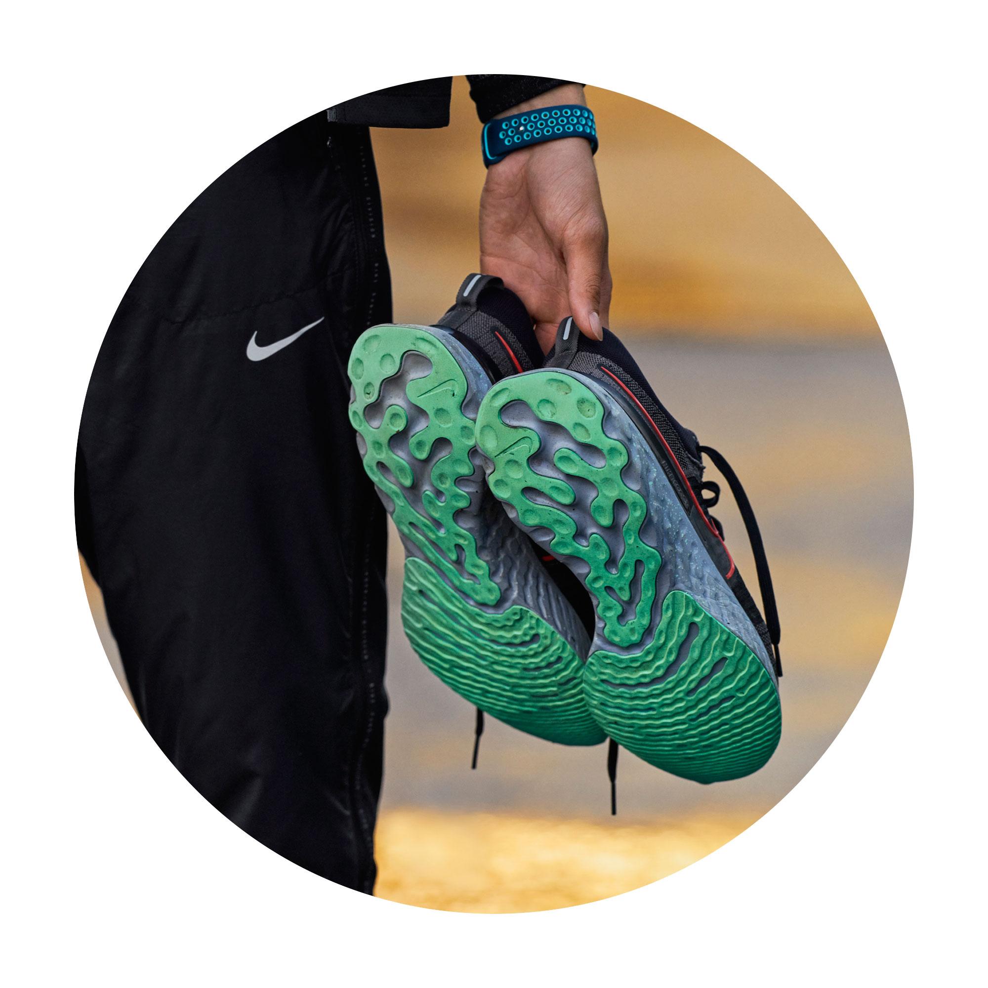 Nike React Infinity Run Flyknit 2 Green Soles
